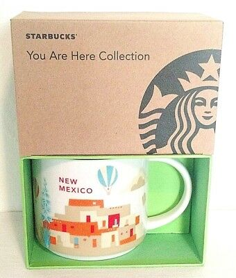 "Starbucks ""You Are Here"" YAH New Mexico Coffee Mug, Hot Air Balloon, Adobe NIB"