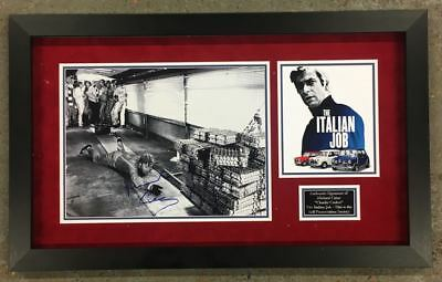 Michael Caine Signed & FRAMED PHOTO MOUNT DISPLAY THE ITALIAN JOB AFTAL COA (B)