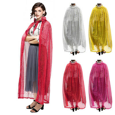 Halloween Goddess Sequined Cloak Cape Costume Witchcraft Witch Wicca Robe Women
