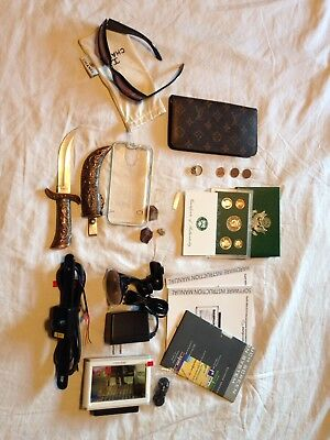 Junk Drawer Lot Silver Ring GPS Coins Knife Ladies Fashion Crystals