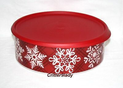 NEW Tupperware One Touch Christmas Holiday Cookie Canister