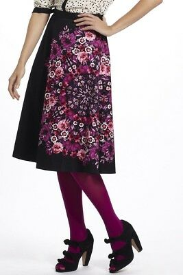 b0a9a5389b anthropologie vanessa virginia Crystalized Fuchsia Floral Skirt Size 4P