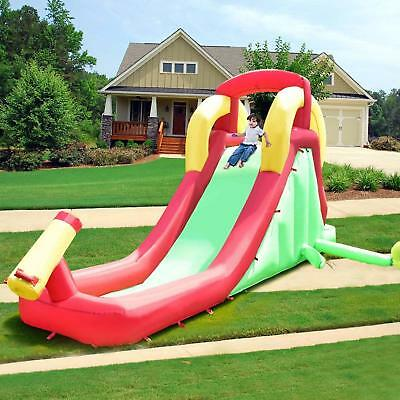Inflatable Water Slide Climb and Slide Bouncer House Bounce Kids Without Blower