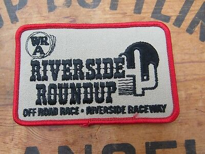 Vintage Western Racing Association WRA Riverside Roundup Off Road Race Patch