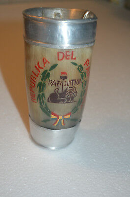 Yerba Mate Drinking Horn from Paraguay