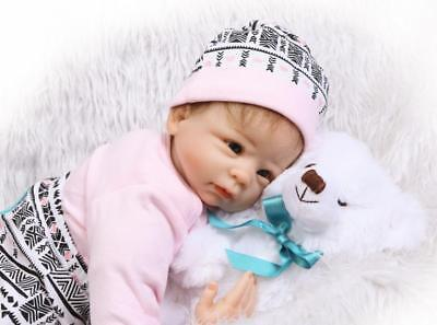 22'' Reborn Baby Girl Boy Doll Handmade Lifelike Soft Vinyl Newborn NPK Dolls