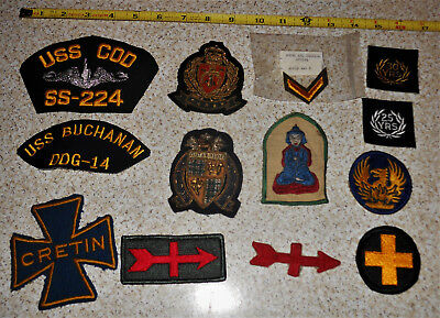 Military Lot of 13 Different Vintage Military Patches