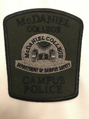 MD Maryland Subdued McDaniel College Campus Police Patch