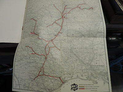 1926 Missouri Kansas Texas Railroad Co. MKT Report with nice fold out route map