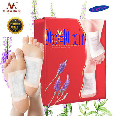 20Pcs Detox Foot Pads With Adhesive Detoxifying Weight Loss Foot Patch New 2018