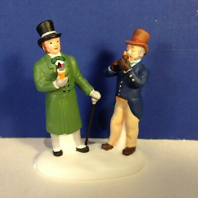Dept 56 Dickens Village PAUSING FOR A LEISURELY PIPE w/ box Combine Shipping!