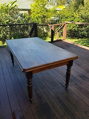 antique dining table and chairs, needs restoring .
