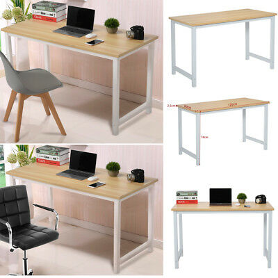 Computer PC Desk Home Office Writing Table WorkStation Wooden Metal Furniture UK