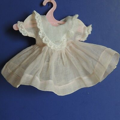 "Madame Alexander Kins Vintage Delicate Cotton Pastel Pink & Blue Dress -8"" Doll"