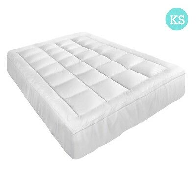 NEW King Single Pillowtop Mattress Topper Memory Resistant Protector Pad Cover