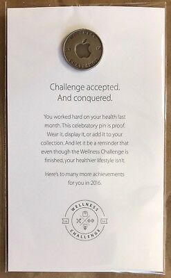 """Apple """"Wellness Challenge 2016"""" Employee only pin, NEW and RARE"""