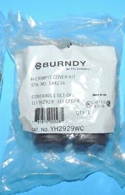 BURNDY CRIMPIT H-TAP COPPER CONNECTOR Black COVER YH2929WC YH2929 Sealed NIP USA