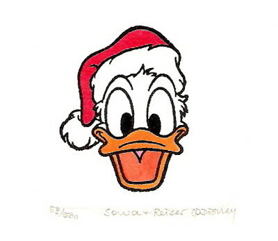 Donald Duck Christmas Ltd/ed Etching