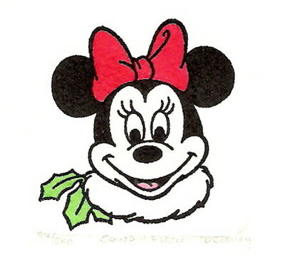Minnie Mouse Christmas Ltd/ed Etching