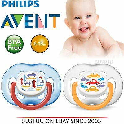 Avent Dynamic Orthodontic Baby Soother Pacifier Dummy Fashion Silicone Teat