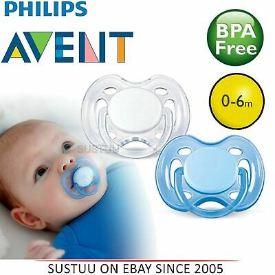 Avent Orthodontic Dummy Pacifier Baby Infant Freeflow Silicone Teat Soother W/B