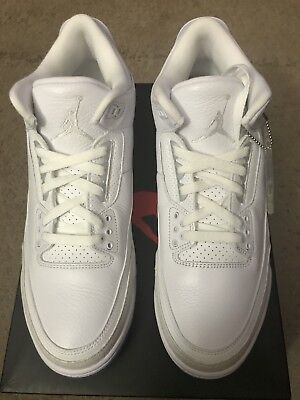 f76c0724132 AIR JORDAN 3 III Retro Pure White 136064-111 Mens Basketball Shoes ...