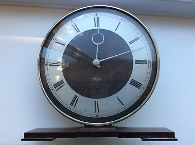 Vintage Smiths Art Deco Bakelite 8 Day Mantel Clock Patent 517819 Running