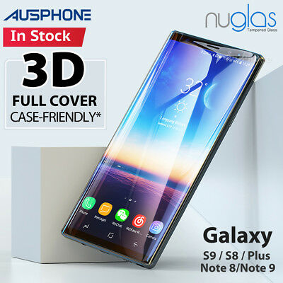 NUGLAS Tempered Glass Full Screen Protector Samsung Galaxy S9 S8 Plus Note 9 8