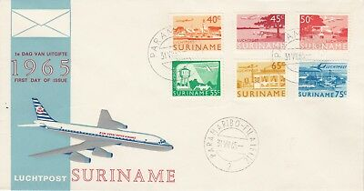 Suriname Luchtpost 1965 First Day of Issue Pair of Covers
