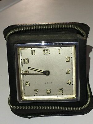 Vintage Of 1960/70's A German mechanical Move 8 Day Traveling Clock