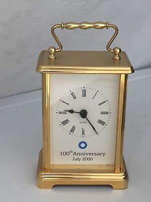 A Wonderful Solid Brass, Gold Plated England Quartz Move Carriage Clock