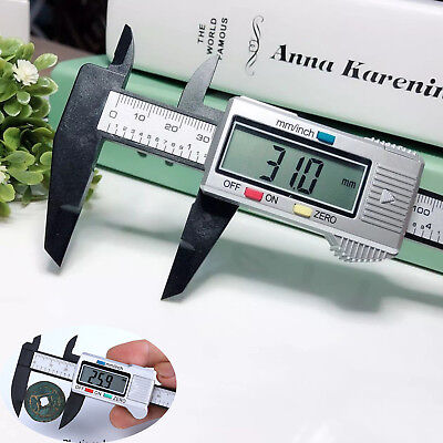 New 150mm 6inch LCD Digital Electronic CF Vernier Caliper Gauge Micrometer SS526