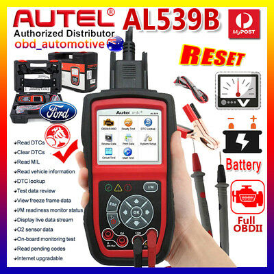 Upgrade OBD2 EOBD Diagnostic Scanner Scan tool Car Battery Tester AUTEL AL539B