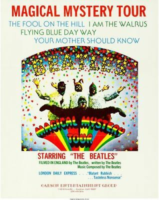 Vintage Beatles Magical Mystery Tour Movie  Poster Print A3/A4