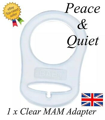 Silicone🖤MAM DUMMY RING🖤MAM ADAPTER🖤Ring🖤Dummy clip🖤Clear🖤🖤pacifier🖤#MAM