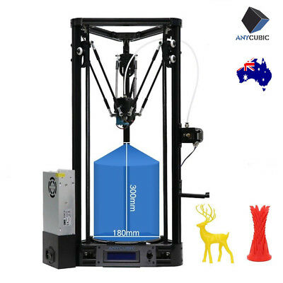 ANYCUBIC Kossel Auto-leveling Pulley Version Delta 3D Printer +1KG PLA Filament