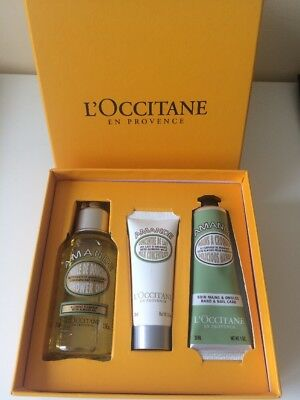 l'occitane Almond gift set: Show Oil, Hand Cream and Milk Concentrate