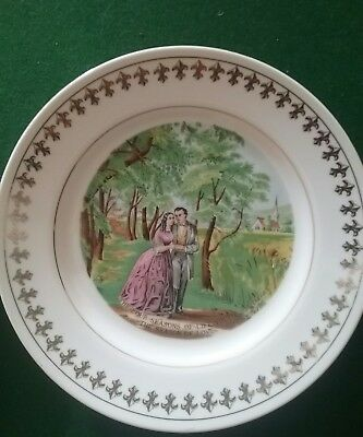 Currier and Ives collectable 4 Seasons antique plates Made in Japan