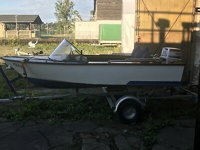 Boot Holzboot 35 Ps Johnson