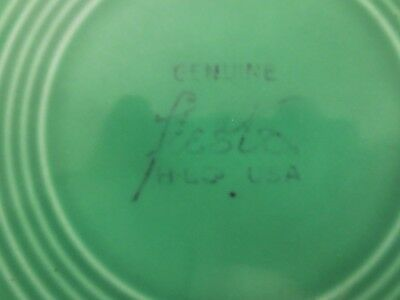 "Vintage GENUINE FIESTA Homer Laughlin LIGHT GREEN PLATTER PLATE - 12"" Round"