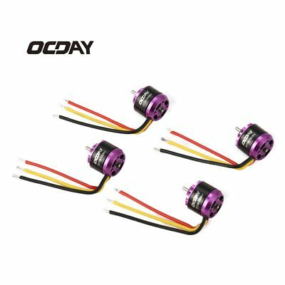 OCDAY 4pcs 1106 7500KV 3-4S Brushless Motors for RC Mini FPV Racing DroneMH