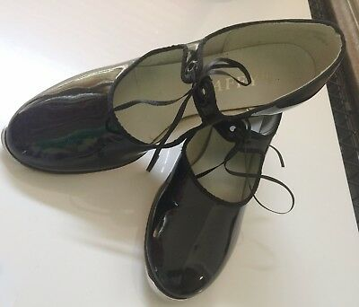 TAFFY'S TAP SHOES Authentic LONDON 2 Metal Tap Size 7 Genuine Leather RARE Find