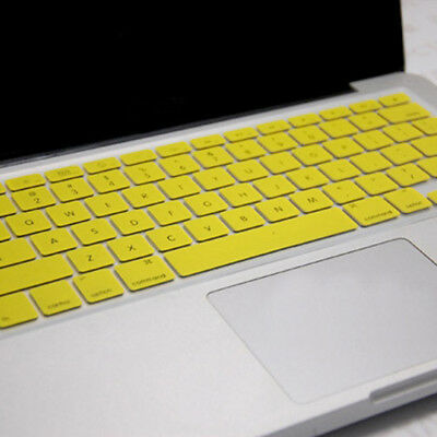 Yellow Silicone Keyboard Cover Protect Skin Film For MacBook Pro 15""