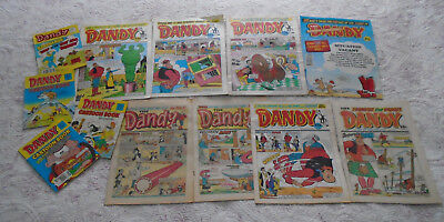 Dandy comics and comic library bundle job lot, numbers on listing