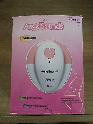 AngelSounds Fetal Doppler Prenatal Baby Heart Monitor 2cds GEL Recording Cable