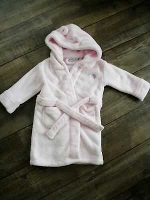 Baby Girl Soft & Fluffy Pink Dressing Gown 18-24 months