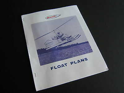 Vintage Float Plans for Bensen Gyrocopter Model B-8 & Gyro-Glider 9 pgs + 2 dwgs