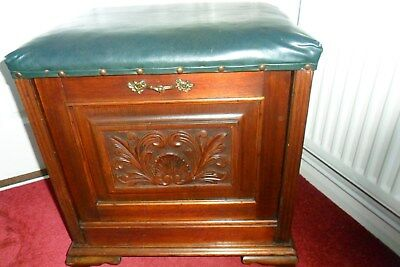 OLD ANTIQUE PIANO STOOL/STORAGE BOX. collect WILTSHIRE.