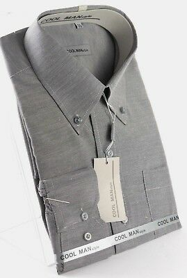 Camicia classica uomo Cool Man manica lunga collo Button down art 258