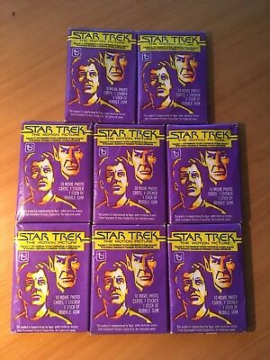 8 x Star Trek Trading Cards - 1979 - Unopened - Excellent Condition